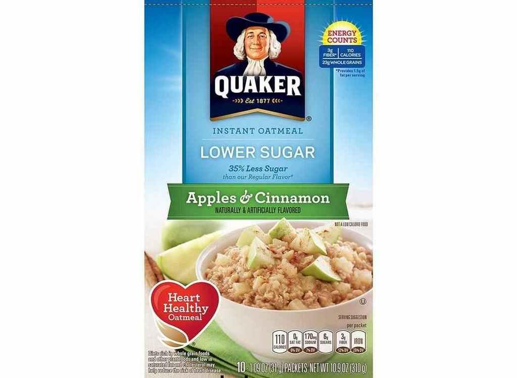 Yến mạch Quaker  ít đường apple & cinnamon