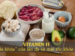 thực phẩm giàu vitamin H