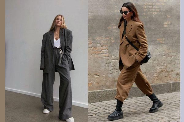 cách phối áo với quần baggy vải