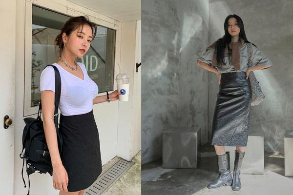 Mix áo thun đơn giản cùng chân váy ôm ngắn hoặc dài đều hợp
