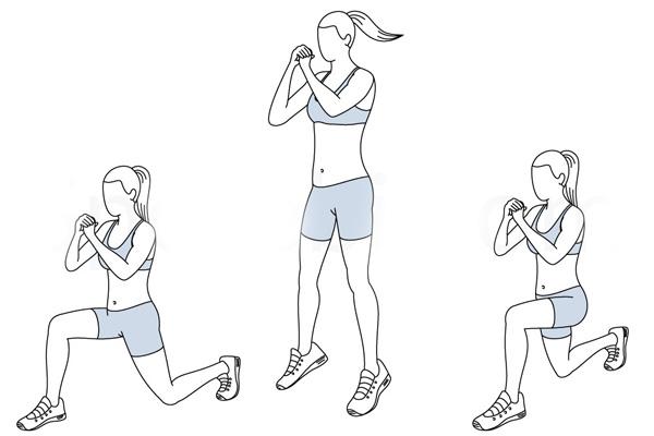 Bài tập Lunge kết hợp bật nhảy