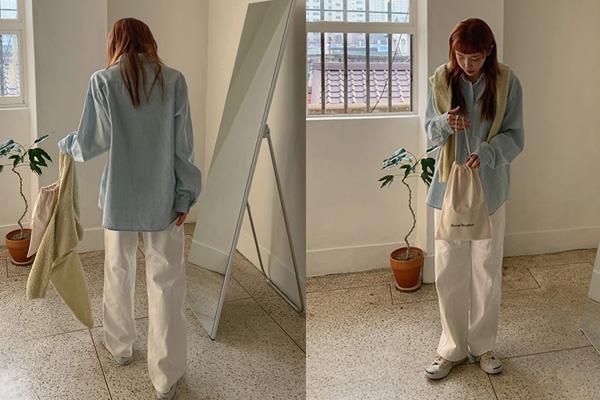 Cách phối đồ với áo sơ mi form rộng