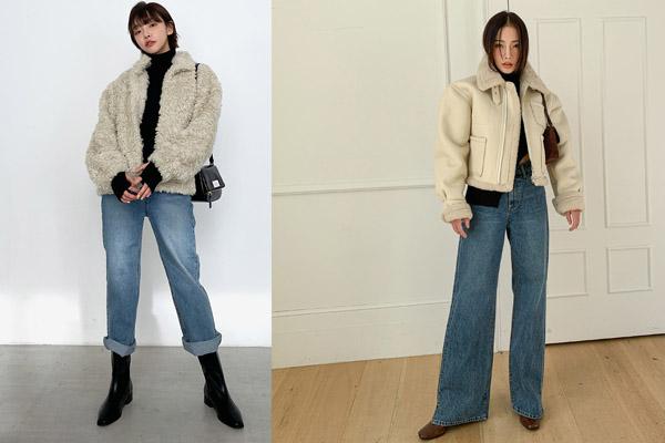 quần jean ống rộng phối với giày gì