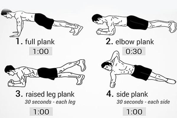 Bài tập plank săn chắc cơ bụng