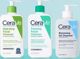 Sữa rửa mặt CeraVe có mấy loại